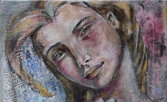 peinture femme divine