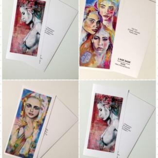 carte double artistique format DL